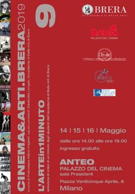 CINEMA&ARTI.BRERA 2019 14-15 -16 maggio - Anteo Palazzo del Cinema dalle 14.00 alle 19.00