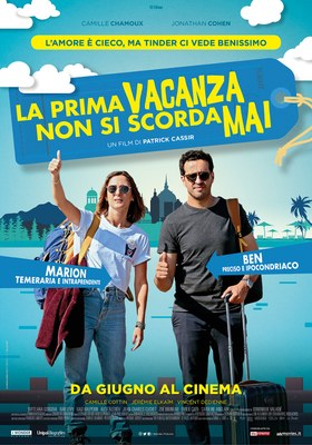 Patrick Cassir, regista, e la protagonista Camille Chamoux presentano il film LA PRIMA VACANZA NON SI SCORDA MAI