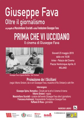 PRIMA CHE VI UCCIDANO - il cinema di Giuseppe Fava