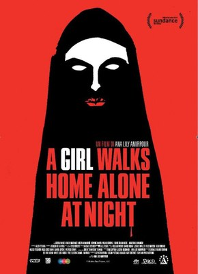 A girl walks home alone at night v.m.14